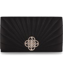 giani bernini satin quilted sunburst clutch, created for macy's