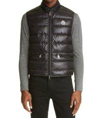 men's moncler gui down puffer vest, size 1 - black
