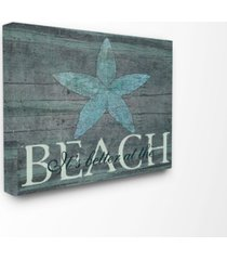 """stupell industries home decor it's better at the beach starfish canvas wall art, 16"""" x 20"""""""