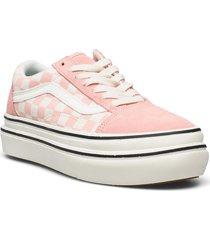 ua super comfycush old skool låga sneakers rosa vans