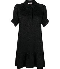 baum und pferdgarten animal-print jacquard dress - black