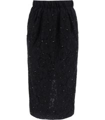 lace pencil skirt.