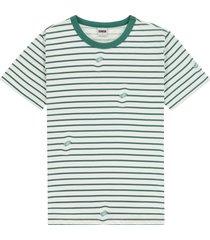 kultivate 2001030210 203 ecru logo stripe t-shirt -
