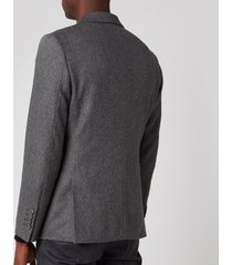 officine generale men's 375 herringbone jacket - grey - 50/l