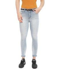 jeans ellus leggings cropped vintage celeste - calce ajustado
