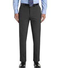 haggar men's j.m. premium charcoal heather 4-way stretch slim fit dress pants - size: 30w x 30l