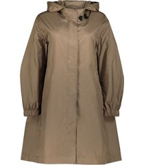embellished a-line overcoat