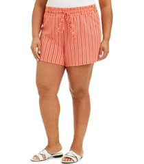 derek heart trendy plus size drawstring-waist shorts