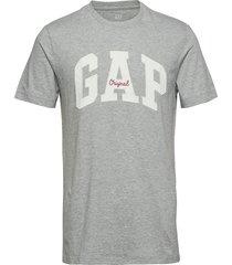gap logo crewneck t-shirt t-shirts short-sleeved grå gap
