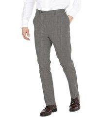 dkny men's modern-fit performance stretch gray sharkskin suit separates pants