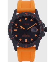 reloj naranja-negro fossil