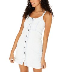 tinseltown juniors' sleeveless denim dress