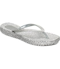 flipflop with glitter shoes summer shoes flip flops silver ilse jacobsen