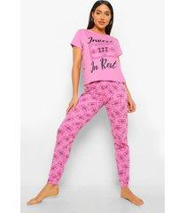 intank in rest pyjama set, pink