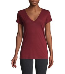 deep v-neck cotton-blend tee