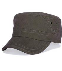 cappello di cucitura dell'aria del cappuccio piano di cotone lavato dell'annata degli uomini