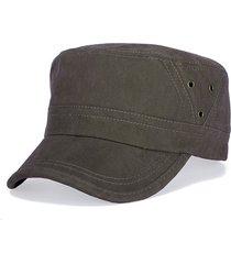 cappello vintage da uomo in cotone lavato e lavato con cuciture piatte