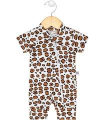 macaquinho zip leopard - [algodáo orgânico]