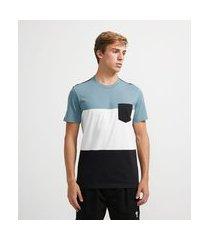 camiseta manga curta com listras   ripping   azul   g
