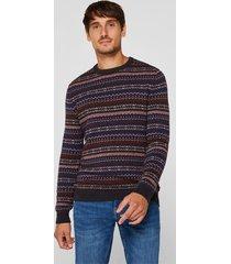 sweater con lana burdeo esprit