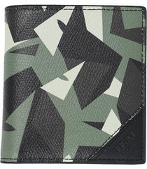 camouflage print slim billfold wallet