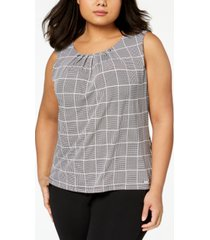 calvin klein plus size pleated top
