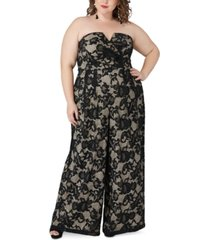 maree pour toi plus size magic lace jumpsuit
