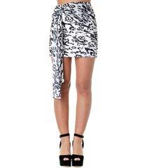self-portrait leopard print pleated mini skirt