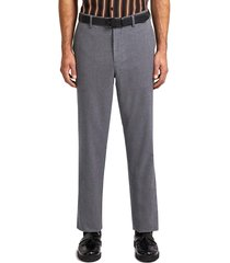 fred perry x miles kane houndstooth tailored trousers - gunmetal - st7011-g85