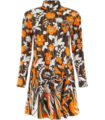 prada floral printed dress