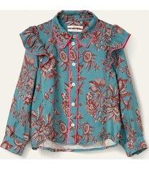 oilily bada blouse mini- turquoise