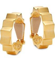 satin goldplated spike hoop earrings