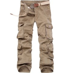 carga de casual de hombres pantalón con cintura media longitud completa de monos con cremallera 33