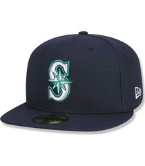 boné new era fechado 5950 seattle mariners game cap azul