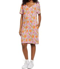 be proud by bp. retro flower print gender inclusive dress, size x-large in pink multi kurt floral at nordstrom