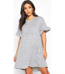 maternity knitted smock dress, grey marl