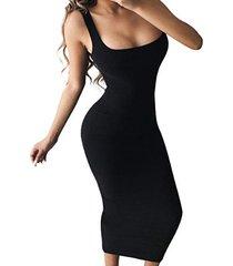 cuello cuadrado bodycon fit maxi vestido