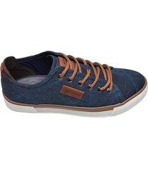 sapatênis masculino saruel west coast azul jeans
