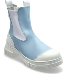 recycled rubber regnstövlar skor blå ganni