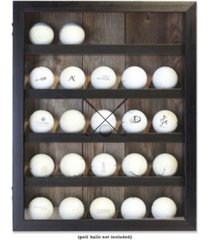 "golf ball shadow box display case - holds 25 logo balls, 11"" x 14"""