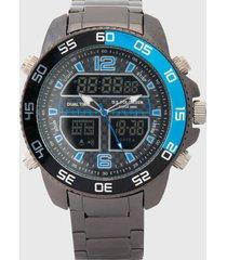 reloj plateado-negro-azul us polo assn