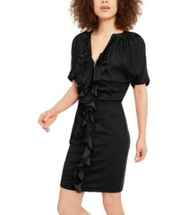 inc ruffle zip-up dress, created for macy's