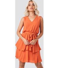 trendyol carmen belt mini dress - orange