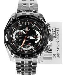 reloj casio edifice hombre ef-550d-1a cronografo - negro