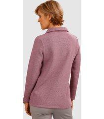 sweatshirt med krage och dragkedja paola rosa
