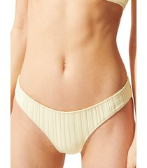 solid and striped women's the elle ribbed bikini bottom - ombre rib knit - size m