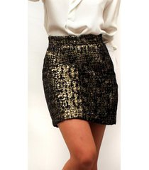 falda camille gold dorada lorenza bas