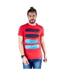 camiseta mister fish estampado arte com tinta masculina
