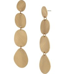 robert lee morris soho disc statement linear earrings