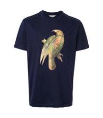 gieves & hawkes camiseta com estampa de pássaro - azul